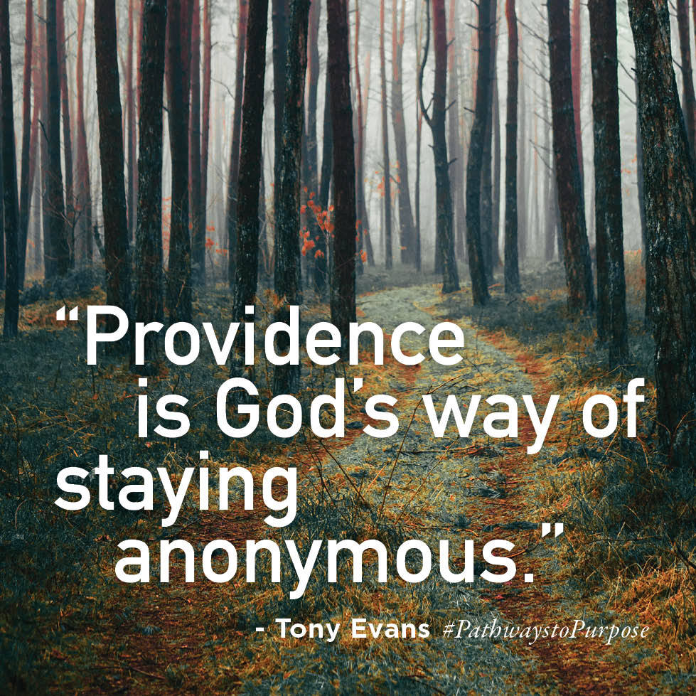 Providence is god's way of staying anonymous